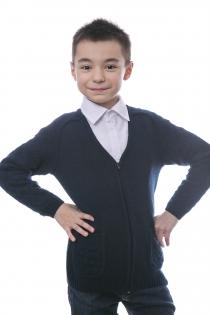 Жакет для мальчика темно-синий на пуговицах
